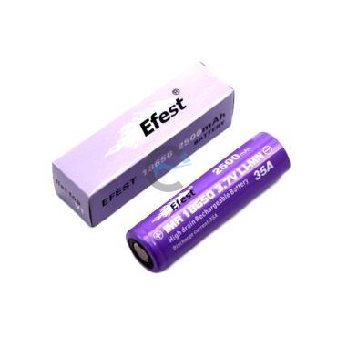 Efest IMR 18650 2500mAh with flat top