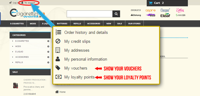 Instruction to use loyalty points