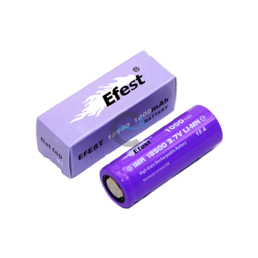 Efest IMR 18500 1000mAh with flat top
