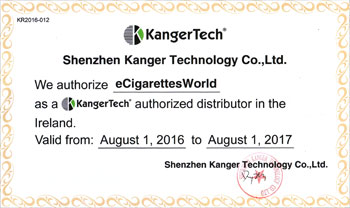 Official KangerTech Authorized Distributor for eCigarettesWorld Ireland
